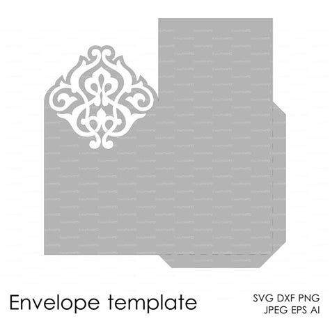 envelope template instant cutting file svg dxf