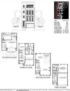 townhouse plan e1005 a1 master bedroom keziah bedroom 3 townhouse plan e1183 a1 2 town homes pinterest house