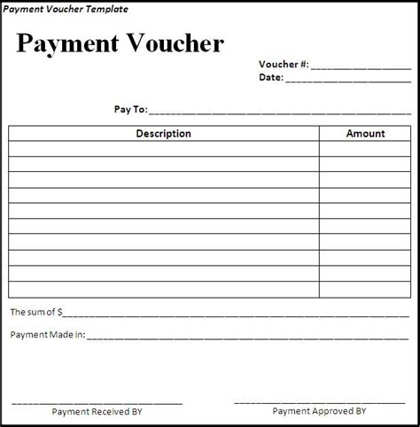 payment voucher template download page word excel formats