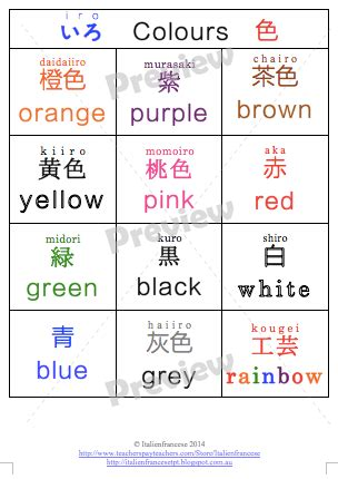 color meanings in japan colour charts in japanese colour chart charts and colour