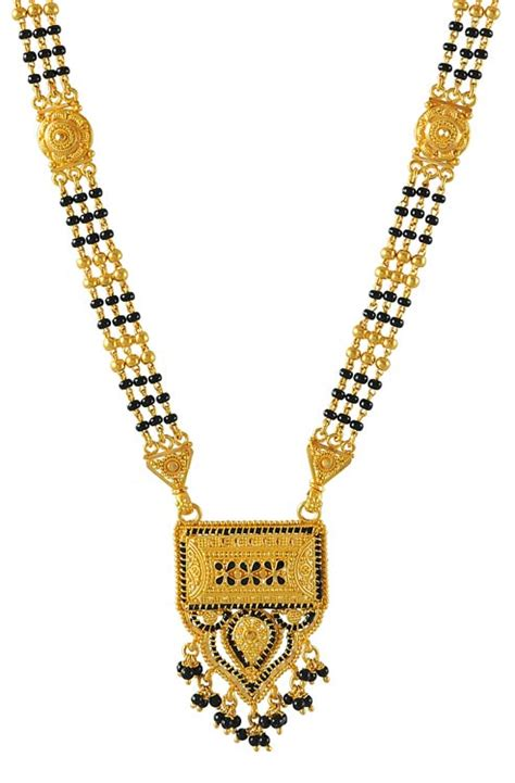 traditional mangalsutra with black 22kt gold mangalsutra with meenakari chms4254