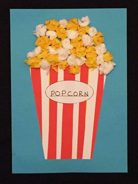 popcorn crafts for paper popcorn craft