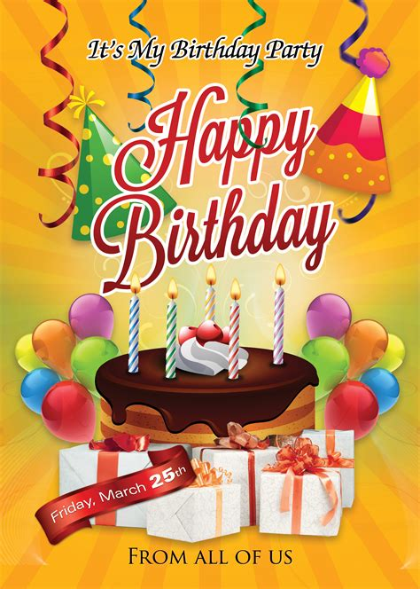 Birthday Flyers Templates by Birthday Flyer Template Photoshop Cs6 Free Flyer Templates