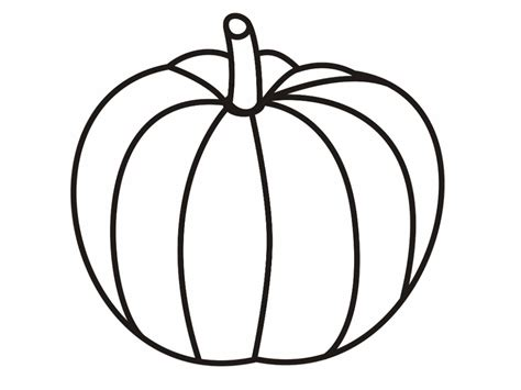 tall pumpkin coloring page best pumpkin outline printable 22948 clipartion com