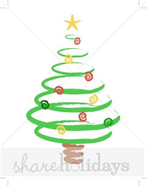 swirl christmas tree clipart