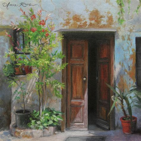 an open door milan italy painting by anna rose bain