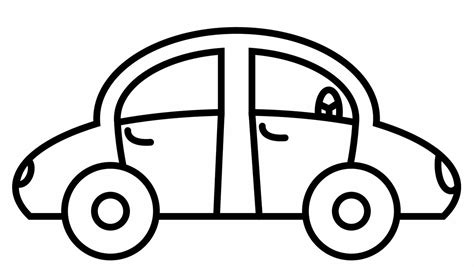 free coloring pages of simple car simple car coloring pages coloring page kids