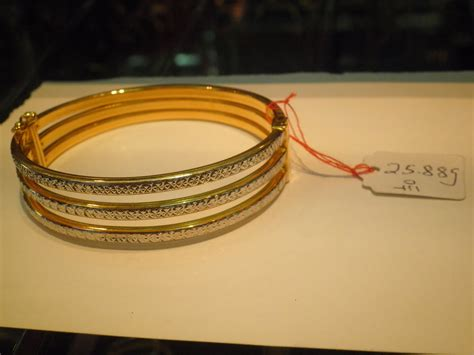 Gelang Tangan Bangle ahmaj jewelleries 2u barang kemas 916 gelang