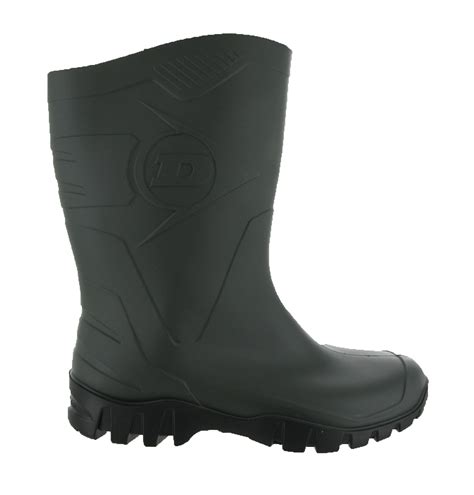 mens wide calf boots dunlop wide calf half length wellingtons wellies unisex