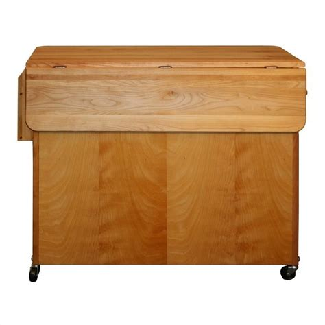catskill craftsman butcher block kitchen island with towel catskill craftsmen 44 quot butcher block drop leaf island