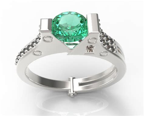 unique emerald and black pave ring vidar jewelry