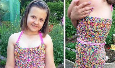 loom band dress video 16 first child to make a adult loom band dress sold on ebay for 163 150 a schoolgirl spent