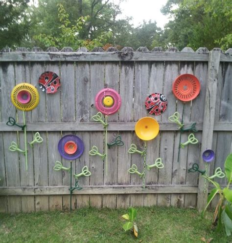 ceiling fan blade craft ideas fence garden no watering required upcycled from