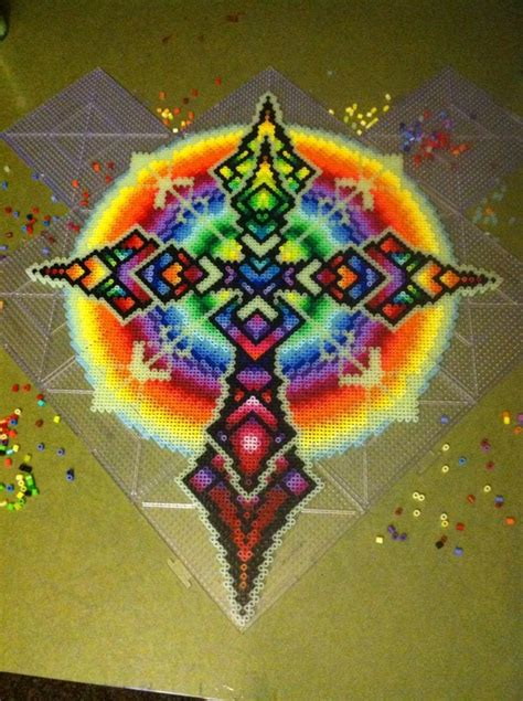 glow in the perler 885 best hama mandalas and designs images on