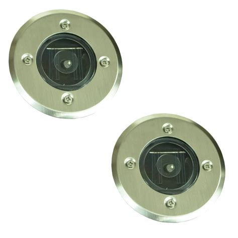 Led Recessed Outdoor Lighting Pack Of 2 Led Recessed Ground Outdoor Pathway Garden Drive Solar Light Lights Ebay