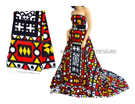 Dress Motif Tribal Ashanti angolan samacaca tribal print fabric by the yard hitarget