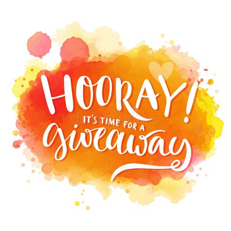The Review And Give Away Contest by Hooray It S Time For A Giveaway Banner For Stock Vector