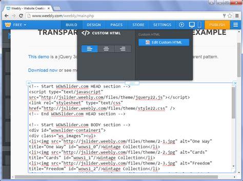 weebly themes html codes wow slider zu weebly hinzuf 252 gen
