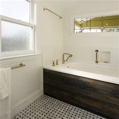 bathtub wood panel wood panel tub skirt design ideas pictures remodel and