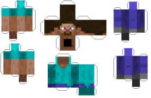 minecraft steve paper template paper crafts minecraft steve with armor