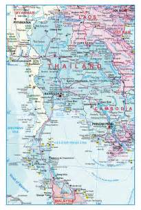 detailed map of large detailed roads map of thailand thailand large