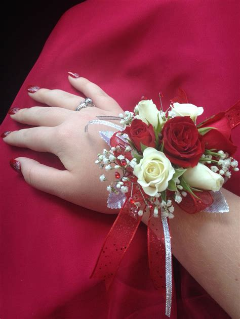 Prom Corsage by White Roses With Pink Tips Corsage Www Pixshark