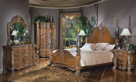 aico furniture paradisio  piece poster bedroom set