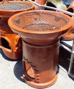 chiminea cooking grate rossys pottery hearth style cooking chiminea or