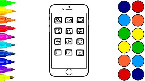 mobile pages how to draw an iphone coloring pages mobile phone