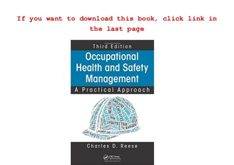 the basics of occupational safety 3rd edition what s new in trades technology books read occupational health and safety management a