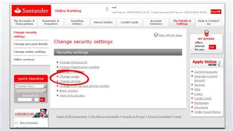 Reset My Online Banking Santander | santander online banking demo