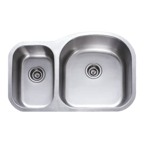 18 gauge stainless steel undermount kitchen 31 inch stainless steel undermount 30 70 double bowl