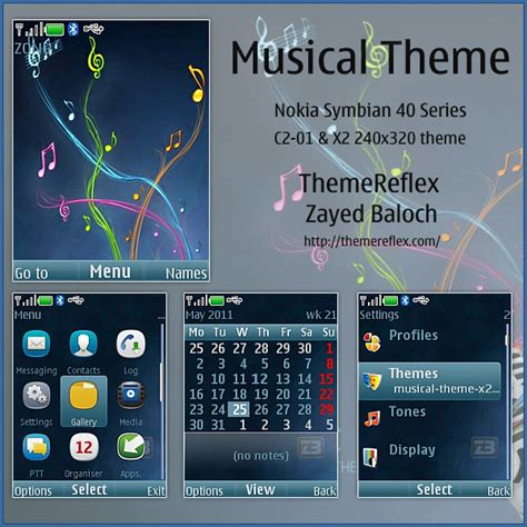 nokia x2 o5 themes musical theme for nokia x2 240 215 320 themereflex