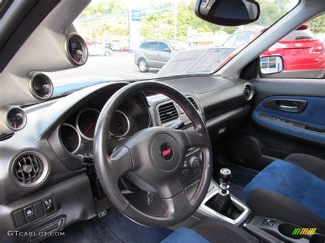 subaru wrx custom interior black blue ecsaine interior 2005 subaru impreza wrx sti