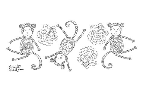 coloring page year of the monkey 83 coloring pages for year of the monkey chinese