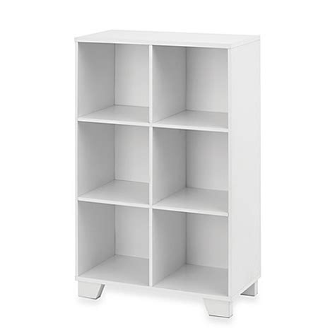 Simple And Shelving Unit Real Simple 174 6 Cube Storage Unit In White Bed Bath Beyond