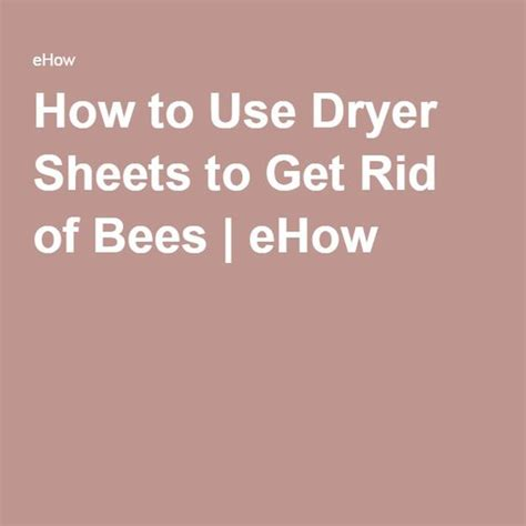 how to get rid of wasps in backyard how to use bees and dryers on pinterest