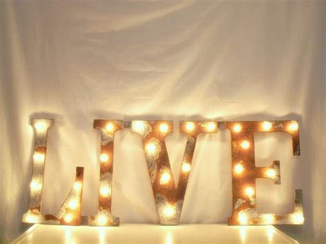 metal wall letters with lights wall plate design ideas