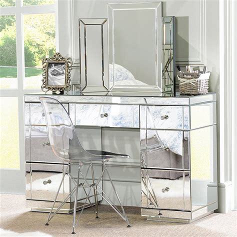 mirror bedroom set mirrored bedroom furniture triple folding dressing table