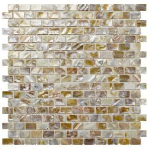 Merola Tile Conchella Subway Natural 11 3/4 in. x 11 3/4
