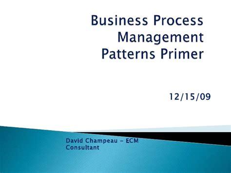 pattern approval definition bpm process patterns primer