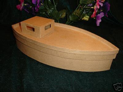 How To Make A Paper Mache Boat - paper mache box large tug boat box ready to paint