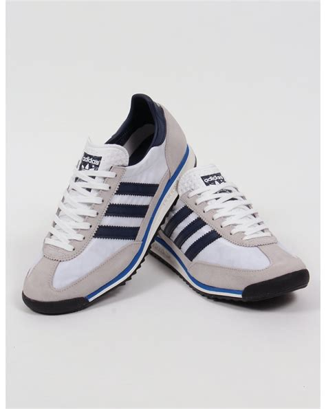 Adidas Sl 72 by Adidas Sl 72 Trainers White Navy Royal Originals Shoes
