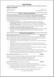 Inroads Resume Template by Retail Management Resumes Retail Manager Cv Template
