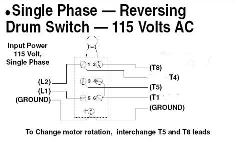reversing single phase motor wiring diagram reversing