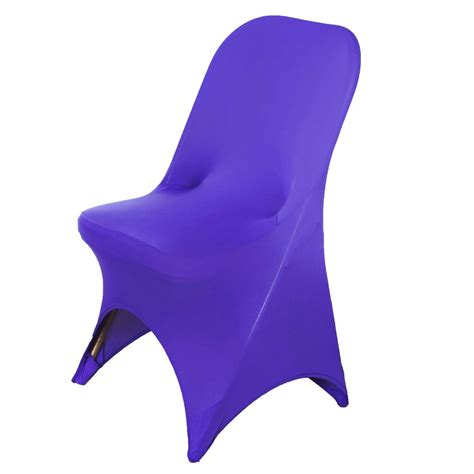purple folding chair covers spandex stretch folding chair cover purple efavormart