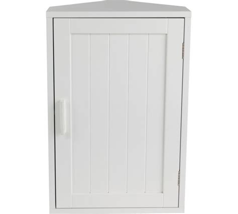 buy home wooden corner bathroom cabinet white at argos