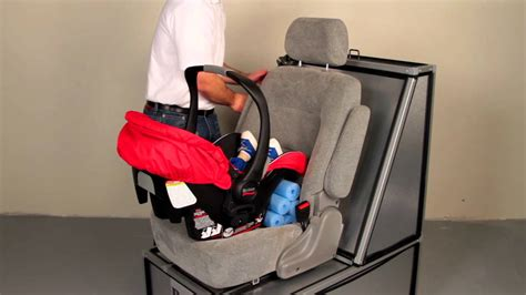 b safe car seat base installation britax b safe installing without the base