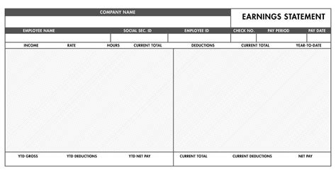 free printable pay stubs template template idea