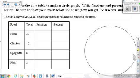circle graphs worksheets 6th grade